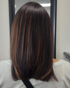 dark hair with blonde highlights colour me beautiful hair salon albuquerque